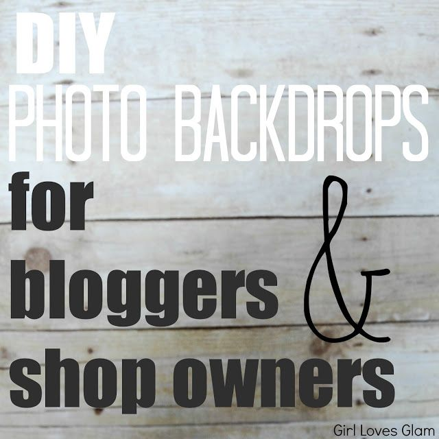 DIY Photo Backdrops for Bloggers and Shop Owners. Great tips!