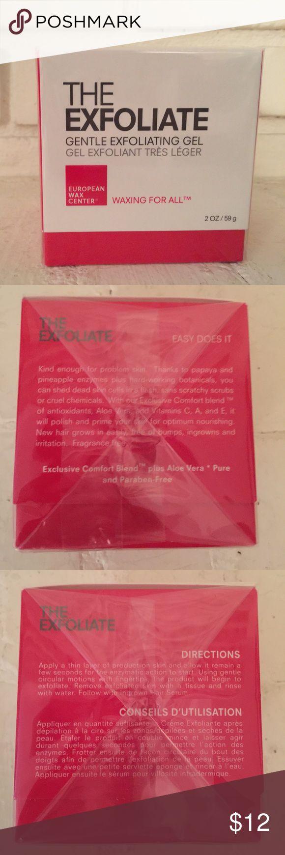 New Sealed European Wax Center The Exfoliate Nwt