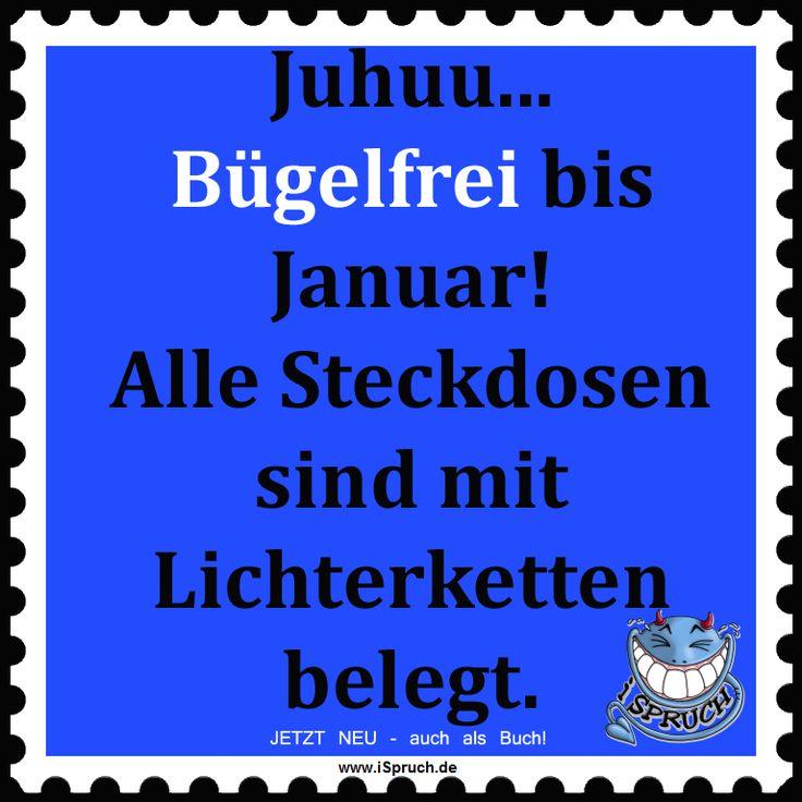 Juhuu... Bügelfrei bis Januar. Warum Steckdosen und Lichterketten doch nützlich sind! http://ispruch.de