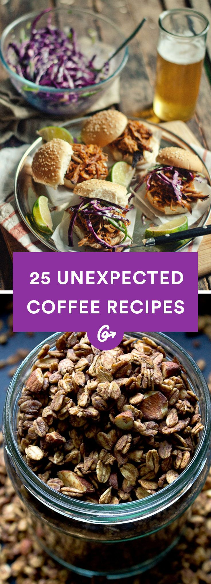 For many of us, coffee's the only reason to get out of bed in the morning. It's also pretty darn tasty any other time of day. Try one of these coffee-based recipes to see for yourself.  #healthy #coffee #recipes http://greatist.com/health/healthy-coffee-recipes