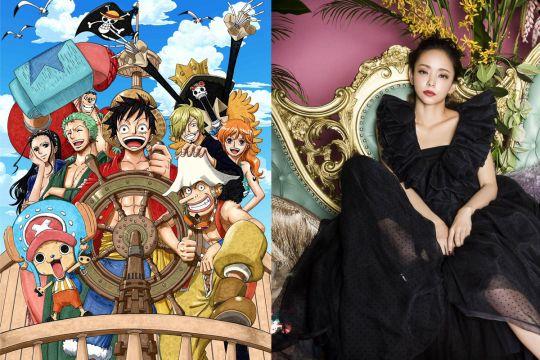 """""""One Piece"""" Anime: Annonce du nouvel opening pour l'épisode spécial d'une heure. Le site officiel de l'anime One Piece annonce qu'un nouvel ending pour l'épisode spécial d'une heure (1er Octobre). Le thème musical de l'anime s'intitulé 「Hope」 et est interprété par la chanteuse Namie Amuro."""