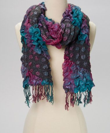 Take a look at this Pink & Gray Textured Scarf by Treska on #zulily today! $9 !!