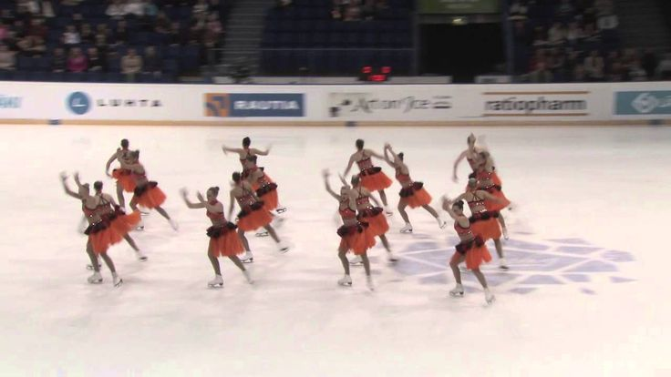 Finlandia Trophy 2013 synchronized skating: Rockettes. LOVE the transitions they used.