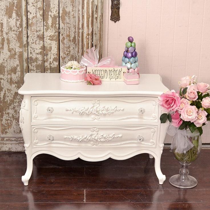 French Style White Bombay Chest Dresser Chest