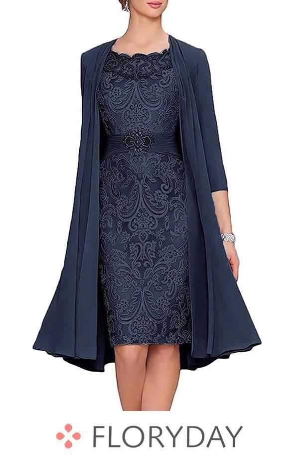 Solid Wrap Cap Sleeve Knee Length Sheath Dress Solid Dress