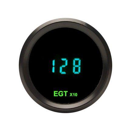 Dakota Digital Round EGT Exhaust Gas Temperature Gauge Odyssey Series II Teal Display ODYR-12-1