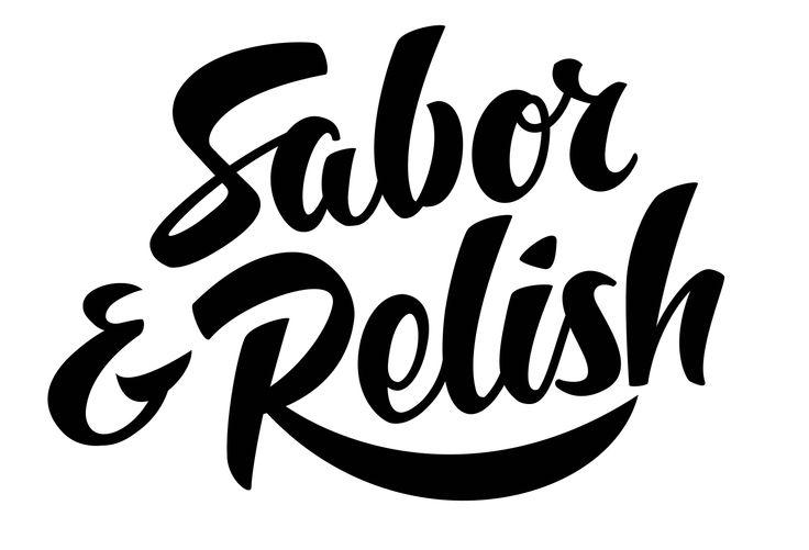 Sabor & Relish Logotype, hand drawn.