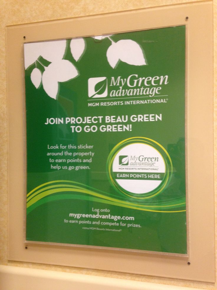 Beau Rivage Go Green Poster