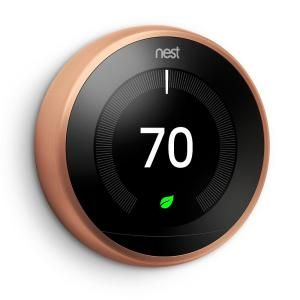 $241.16 - Nest 3rd Generation Learning Thermostat, Copper T3021US at The Home Depot