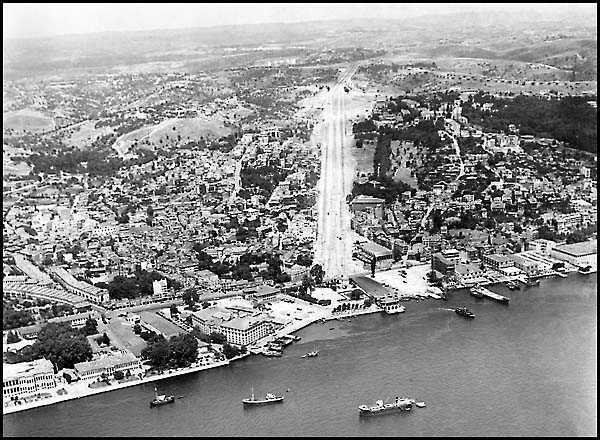 kuşbakışı Zincirlikuyu, Gayrettepe, Şişli, Beşiktaş (1950-60 arası) #istanbul