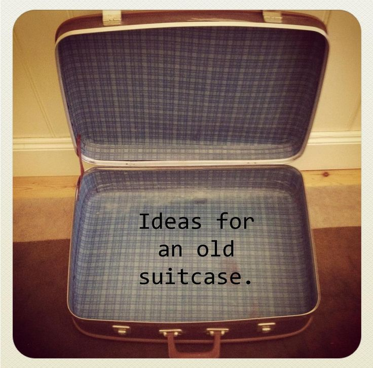 17 best ideas about old suitcases on pinterest suitcase decor vintage suitcases and bedside - Repurposing old suitcasescreative ideas ...