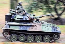 British Army Scorpion Scout Tank armed with 76mm gun.