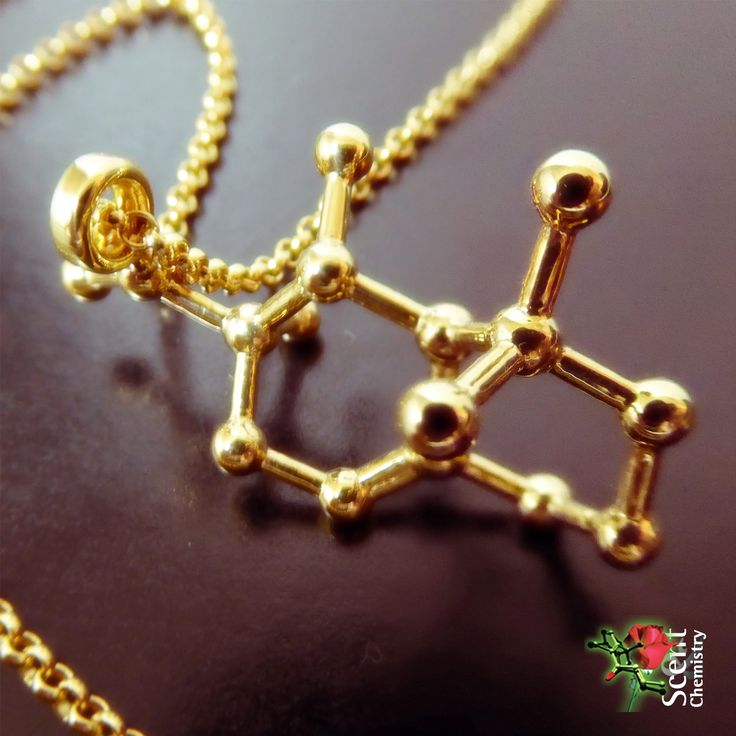 18k Gold plated Iso E Super (Arborone) molecule jewelry to wear to the 100% Iso E Super perfume 'molecule 01' (escentric molecules, 2005) …or to 'Tresor', …or 'Feminite du Bois', …or 'Perles de Laliques',  …or basically to anything else as Iso E Super is ubiquitous in modern perfumery!
