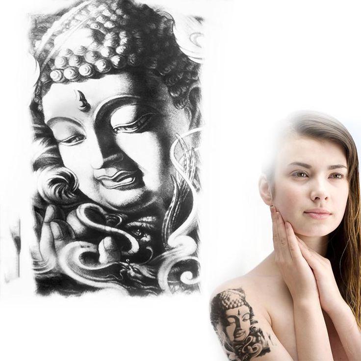 Black-white-temporary-font-b-tattoo-b-font-font-b-Chinese-b-font-temple-cassock-Shakyamuni.jpg (800×800)