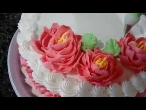 Decoração de Bolo com Bico 402 - By Inês Teles - YouTube
