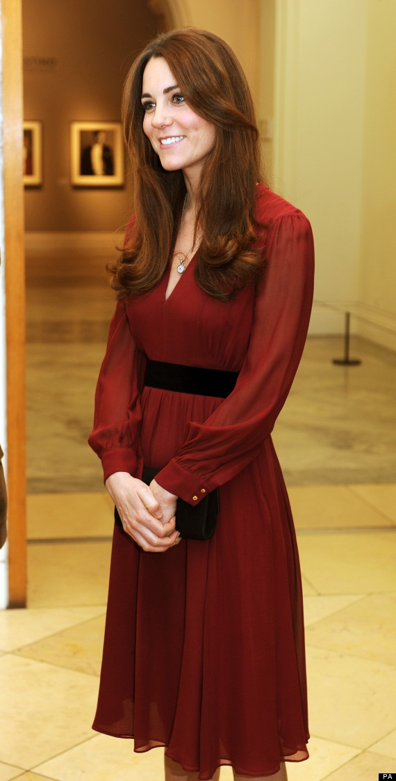 Kate Middleton in Whistles at the National Portrait Gallery. January, 2013... Is everyone really convinced she is pregnant??!