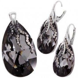 Set bijuterii de lux cu cristalke negre http://www.bijuteriifrumoase.ro/cumpara/twig-crystallized-pear-p-22-38-twlvbck-2593