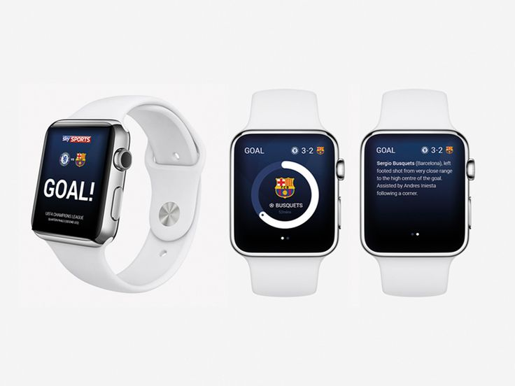 Apple Watch concept for Sky sports mini app.  Take a look at the full project at http://goo.gl/AvUBSD