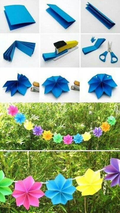 guirlande fleur en papier