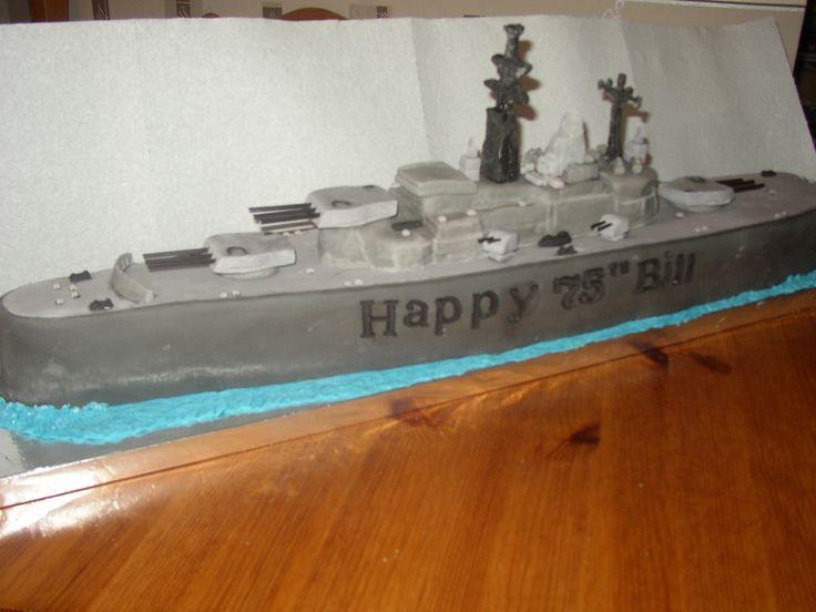 battleship 70th birthday cake