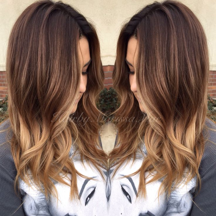 Ombre and messy curls