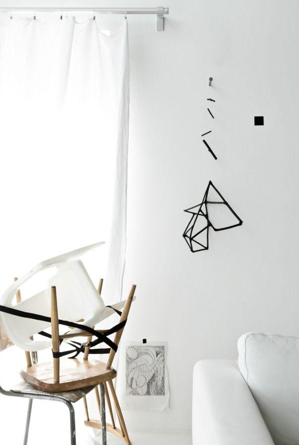 geometrical charcoal mobile by annaleena