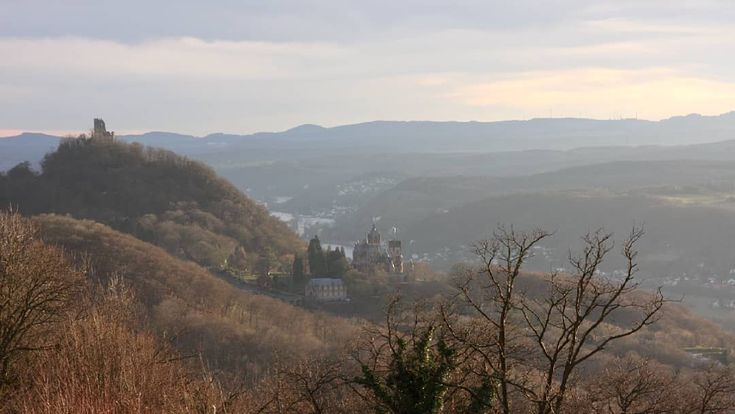 As the weather is somewhat greyish today, I decided to look for a more colorful winter photo in my #archive ... View of #drachenfels from #petersberg by Bohn.Bonn on instagram