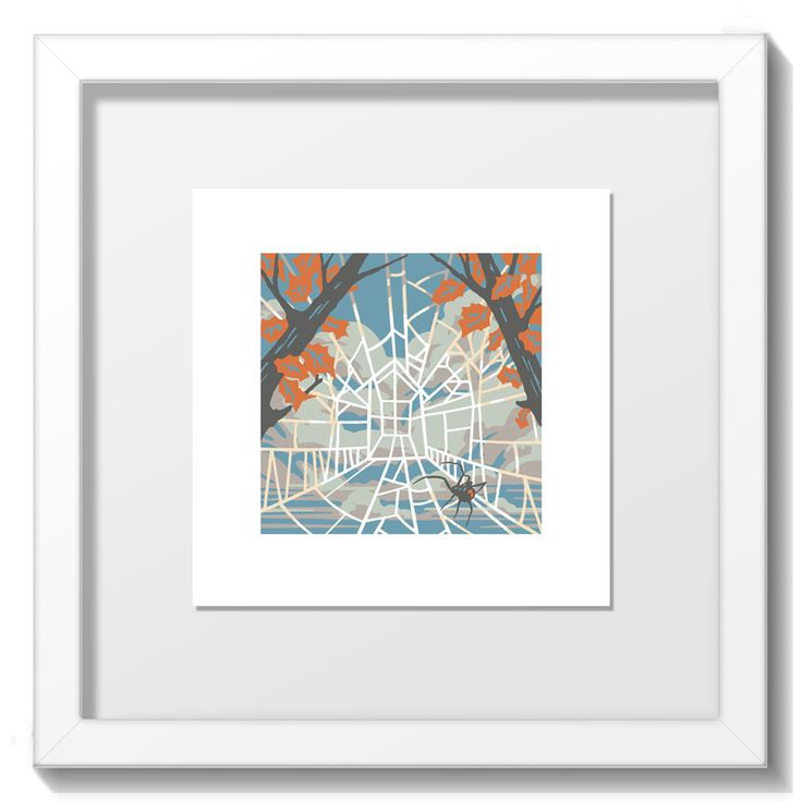 """Limited Edition Screenprint by Blair Sayer from the """"Home"""" range. Print size 94mm x 94mm on paper stock 148mm x 148mm Final Framed size 20cm x 20cm. White frame only. http://www.yippeei.com/shop/home-prints/home-by-blair-sayer"""
