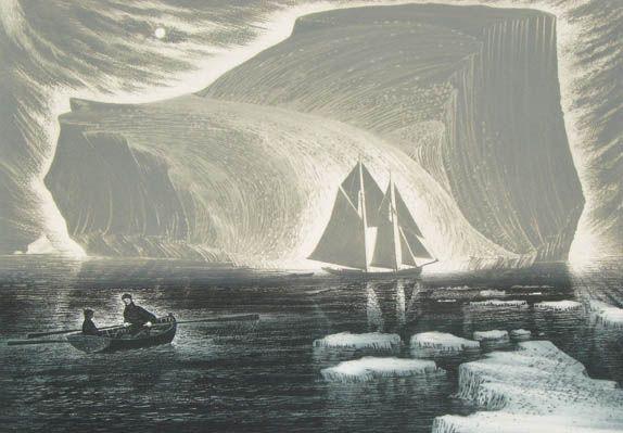 David Blackwood, The Flora Nickerson in the Labrador Sea.