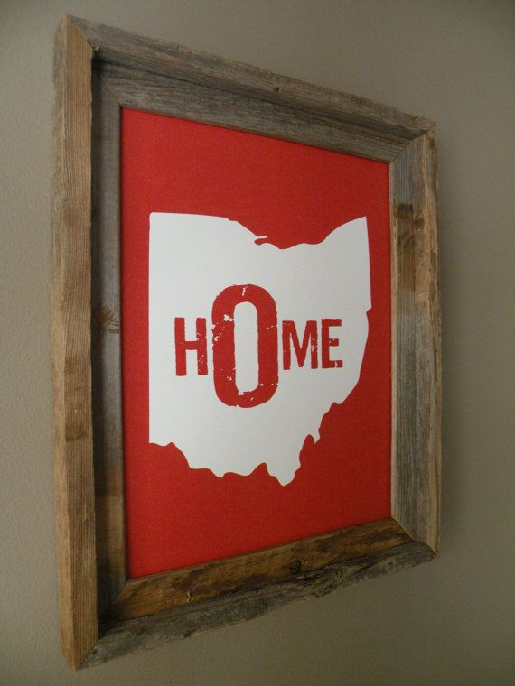 Ohio Home Print Red Unframed Missouri Etsy Shop And