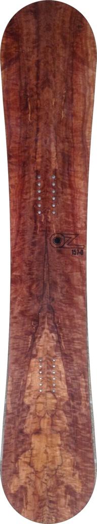 For Sale! Makore wood veneer snowboard www.ozsnowboards ...