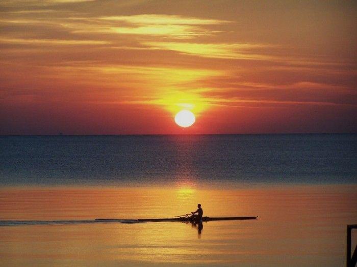 La salida del Sol desde el Lago Superior