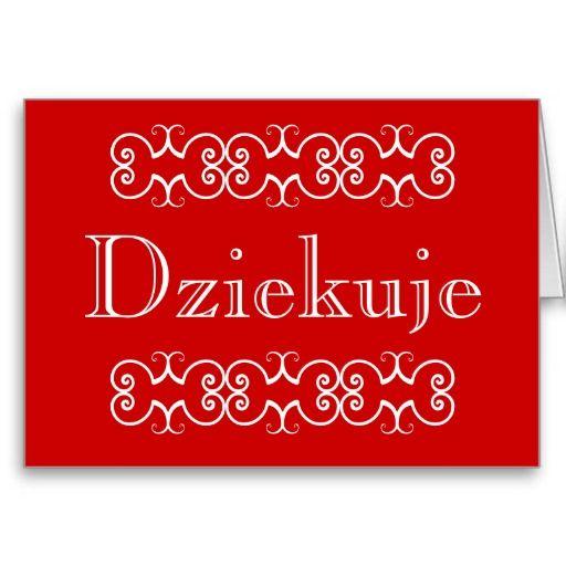 Открытки спасибо на польском, днем