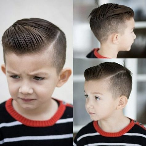 Little Boy Hairstyles: 50 Trendy and Cute Toddler Boy (Kids) Haircuts #Awesome #African Americans #Hipster #Tween #Straight #Asian #Spike #Mohawks #Designs #Blonde #Fohawk #Hard Part