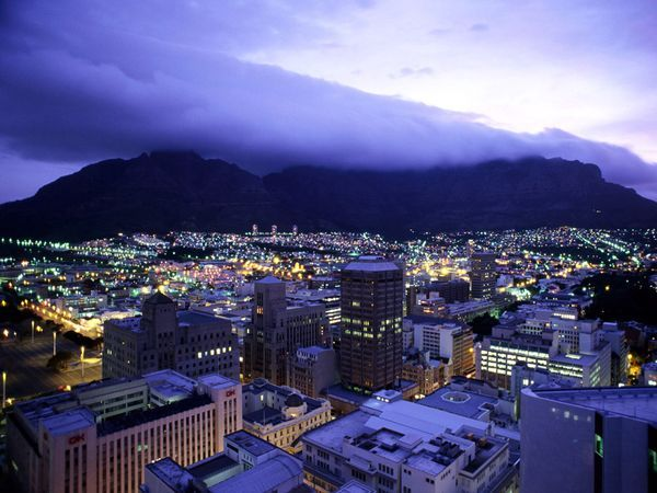 A majestic view of Cape Town