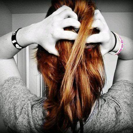 Shorter hair. Red