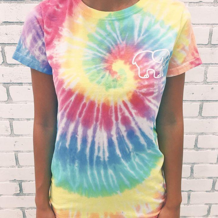 Ivory Ella Rainbow Tie Dye Classic Print Tie Dye Tie