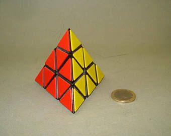 Vintage Old & Rare Logic Game, 3D Pyramid, Triangle Cube, Magic Brain Puzzle Game,  1980's