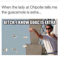 chipotle guacamole meme - Google Search