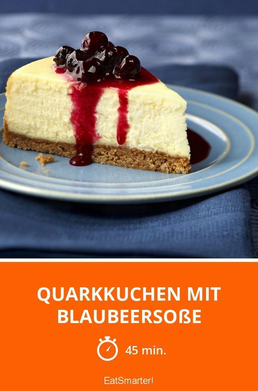 Quarkkuchen mit Blaubeersoße - smarter - Zeit: 45 Min. | eatsmarter.de
