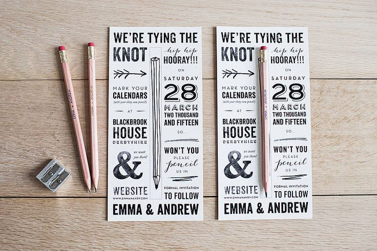 Pencil Us In Save The Date from notonthehighstreet.com
