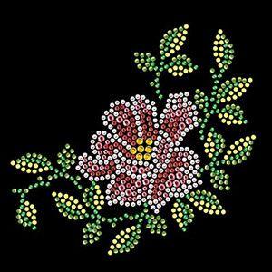 Beautiful Flower rhinestone transfer