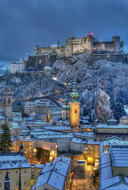 Winter in Old city of Salzburg, Austria   by Ilja Osthoff