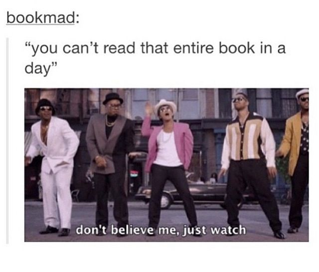 Yes! But don't actually watch. I don't like people watching me while I read.