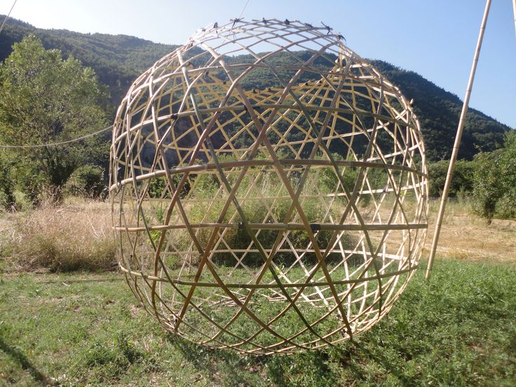 Bamboo sphere  Triaxial weaving