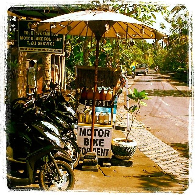 The local petrol station #Bali