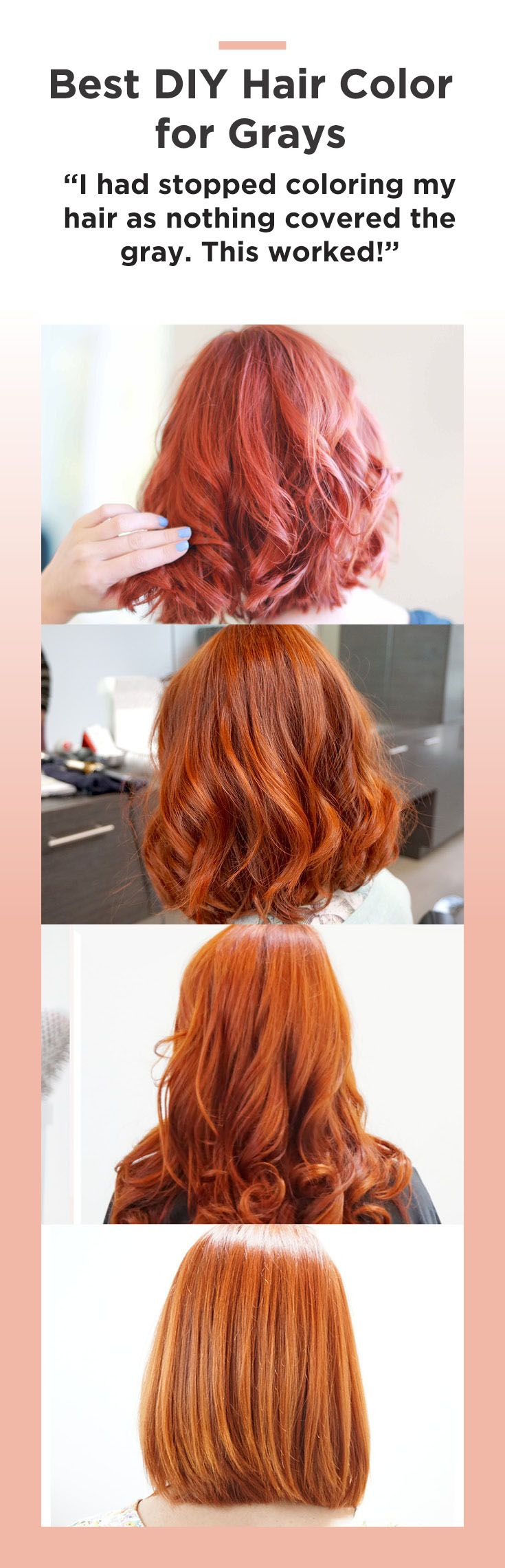 """Ditch the generic drugstore box and try this new DIY hair color: """"It was the exact hair color I was looking for but could not find. That in between color that you just can't get from store bought colors..."""