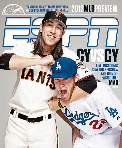 Tim Lincecum And Clayton Kershaw ESPN Magazine