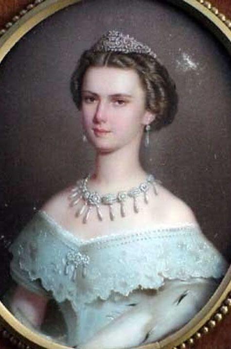 Oval Portrait by unknown artist of Empress Elisabeth ...
