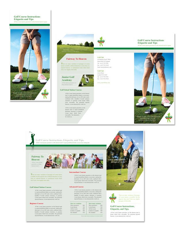 1000 images about golf on pinterest ryder cup tennis for Golf brochure template